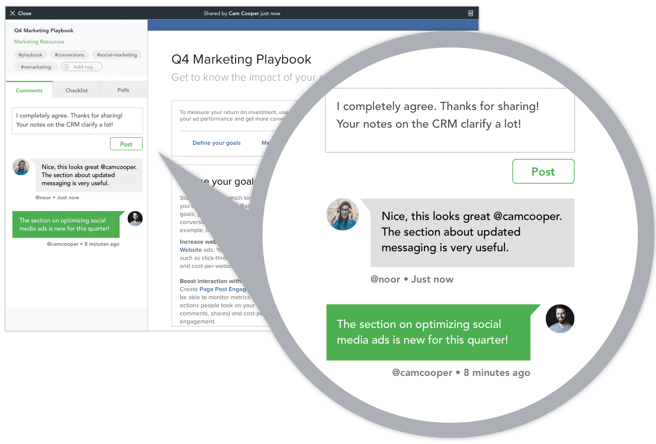 social engagement Q&A on knowledge sharing platform