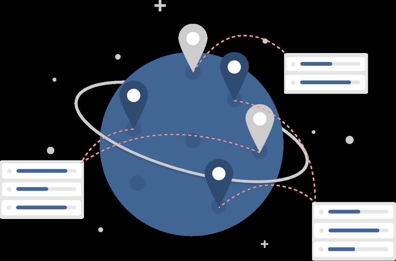 Customer training hero image, worldwide platform