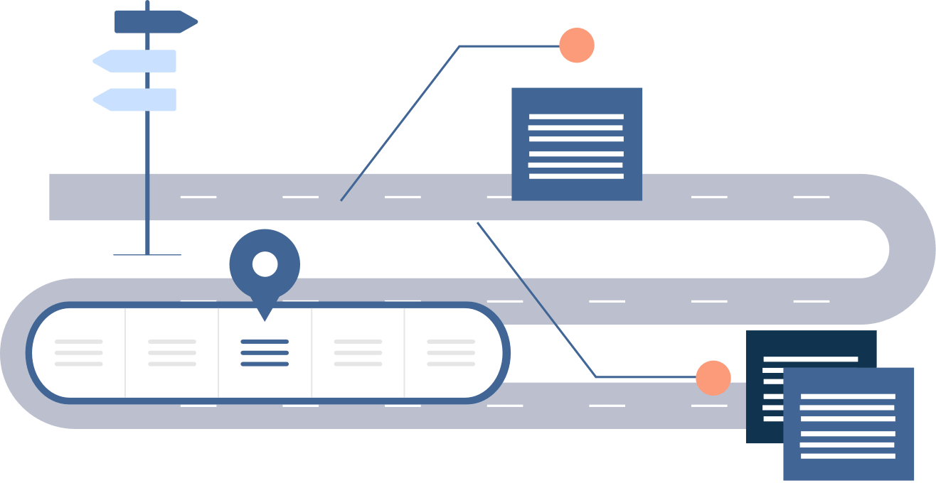 Onboarding hero image, abstract illustration of an employee onboarding process