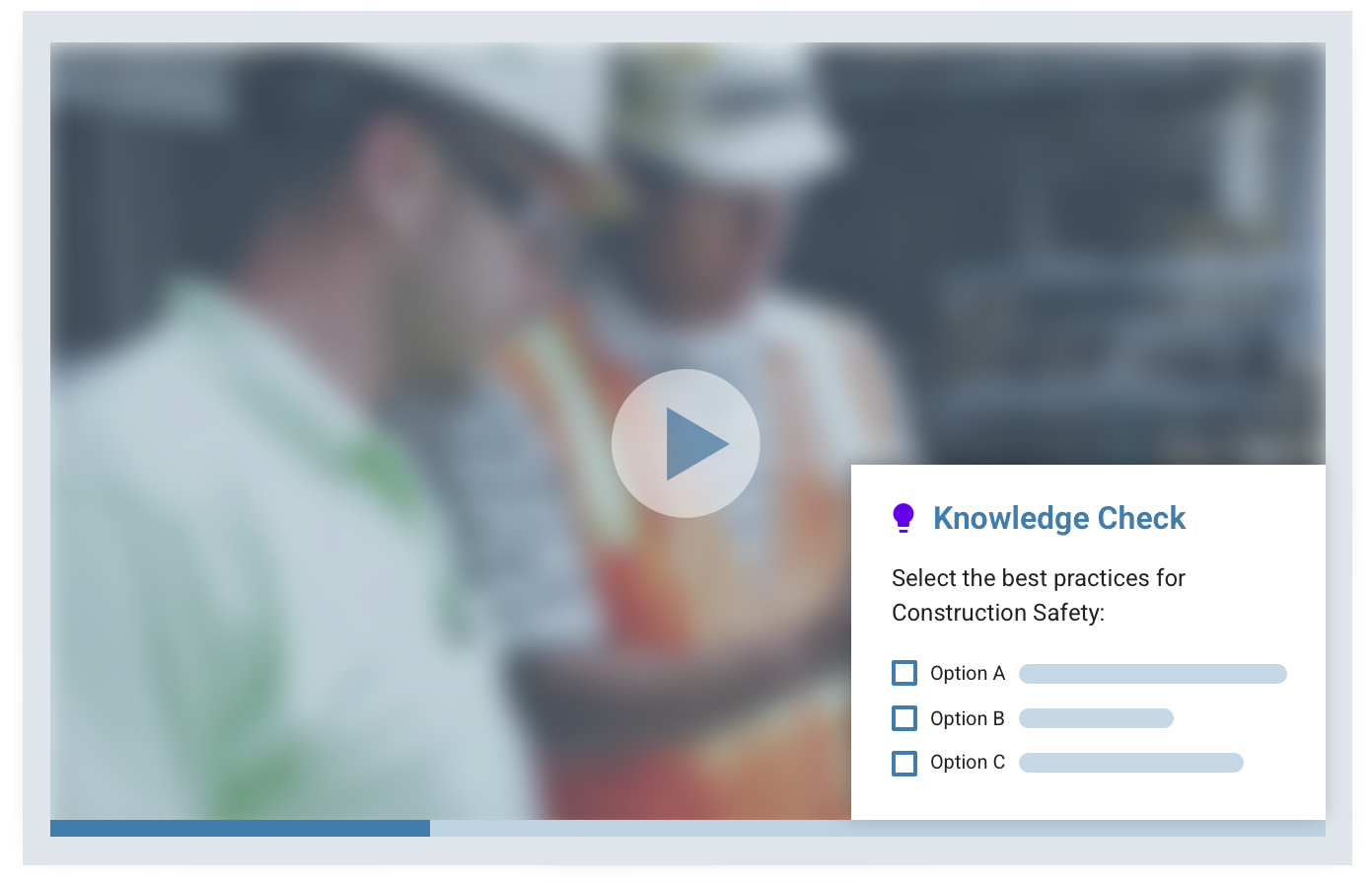 employee knowledge checks on LMS