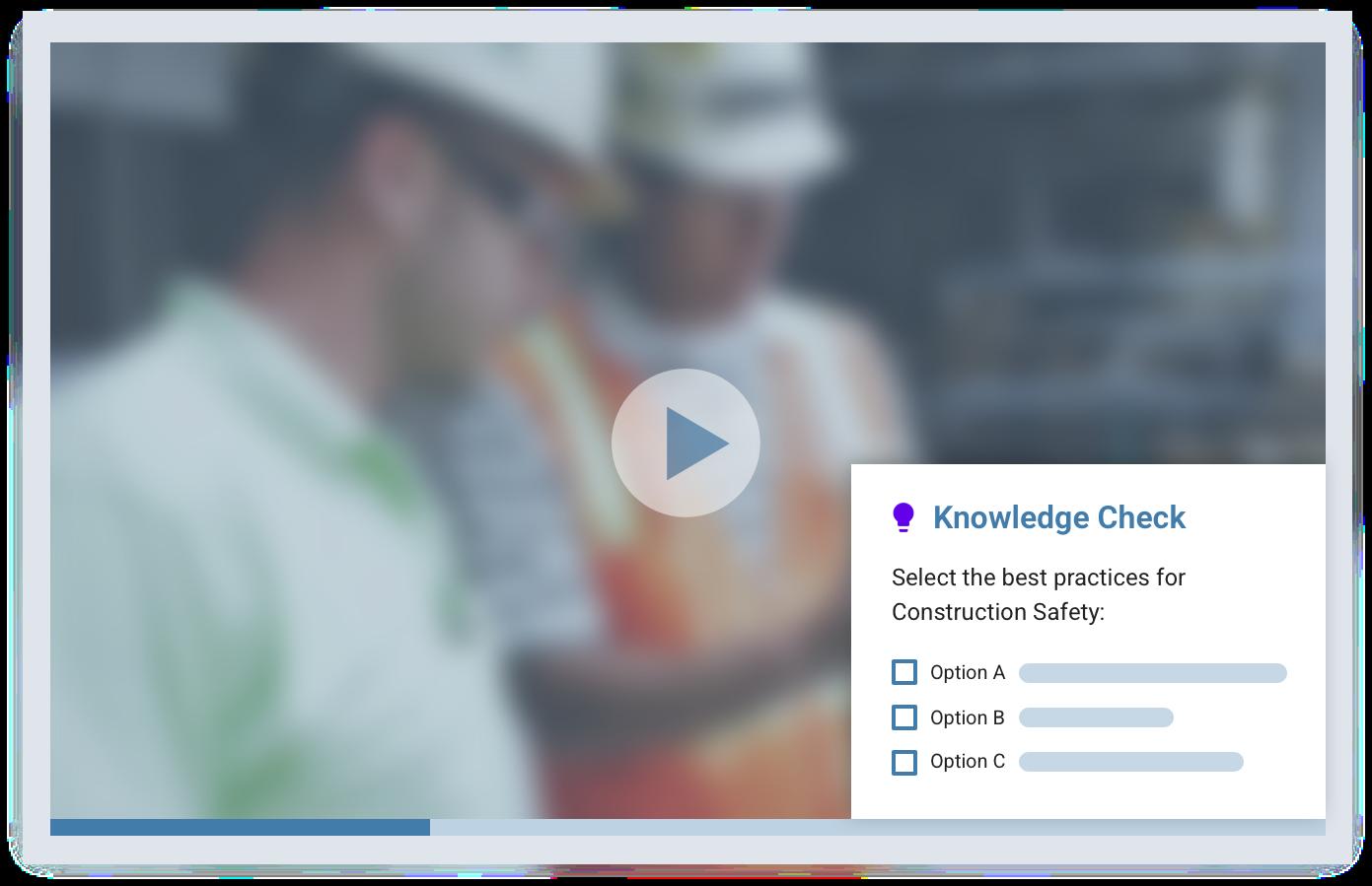 employee knowledge checks on LMS
